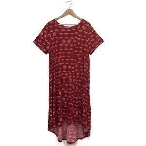 NWT LuLaRoe Carly Cranberry Geometric Swing Dress